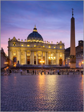 St. Peter's and St. Peter's Square in Rome, Italy