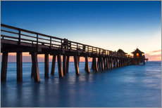 Pier of Naples at sunset, Florida