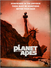 Planet of the Apes retro style movie inspired