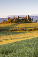 Podere Belvedere at sunrise, Tuscany, Italy