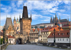 Prague Castle and Old Town in summer