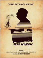Rear window movie inspired hitchcock silhouette art print