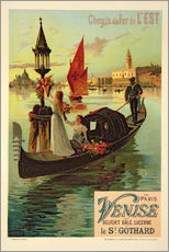 Reproduction of a Poster Advertising the Eastern Railway from Paris to Venice