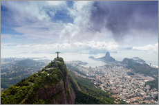 Rio de Janeiro landscape showing Corcovado, the Christ and the Sugar Loaf, UNESCO World Heritage Sit