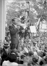 Robert F. Kennedy speaking at a Congress of Racial Equality rally.