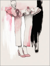 Pink shoes fashion illustration