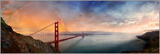 San Francisco Golden Gate with rainbow