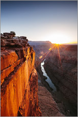 Beautiful sunrise on Grand Canyon and river Colorado, USA