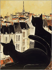 Black cats on Parisian roof