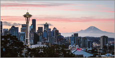 Seattle panoramic with Mount Rainier, USA