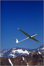 Gliding over the snowy mountains