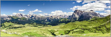Seiser Alm panoramic view, South Tyrol