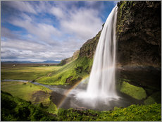 Sejalandsfoss Waterfall with Rainbow