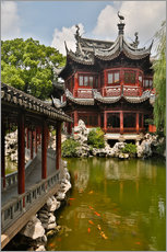 Shanghai, China Yu Garden and oriental styled buildings.