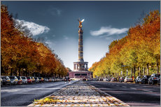 Victory Column Berlin during Fall
