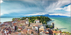 Sirmione in Italy, with Lake Garda