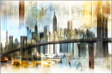 Skyline New York Abstrakt Fraktal