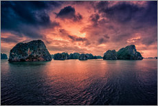 Sunrise over Halong Bay