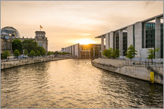 Sunset at the Reichstag in Berlin