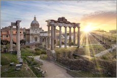 Sunset at the Roman Forum in Rome, Italy