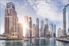 Sunset at Dubai Marina