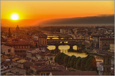 Florence at sunset, Italy