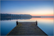 Pier in the lake Sunrise