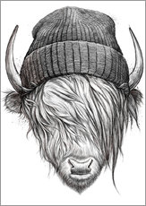 bull in a hat