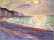 Beach at Pourville, Sunset