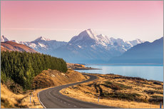 Road to Aoraki, New Zealand