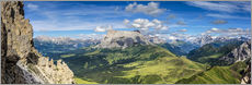 The Dolomites in South Tyrol, panoramic view