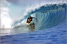 Surfing blue paradise island wave