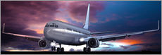 Take off for passenger aircraft in the evening