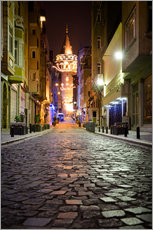 The famous Galata-Tower at night (Istanbul/Turkey)