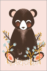 Animal friends - The bear pink