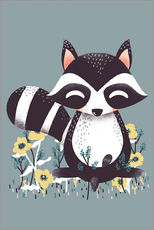 Animal friends - The raccoon