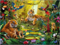 Tiger Family in the Jungle