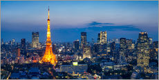 Tokyo skyline with Tokyo Tower at night