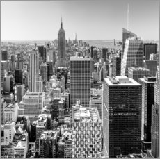 Top Of The Rock - New York City (monochrome)