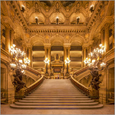 Staircase of the Opera Garnier in Paris France