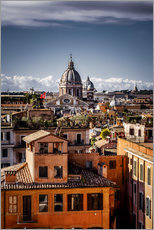 Over the roofs of Rome, Italy
