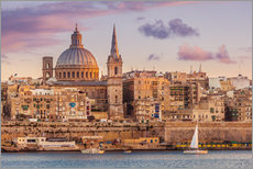 Valletta at sunset