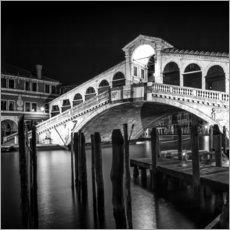 VENICE Rialto Bridge at Night