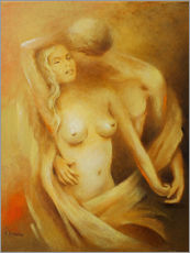 Couple in love - Classical nude painting