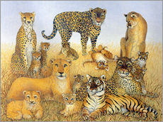 various big cats