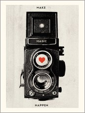 Vintage retro camera photographic art print