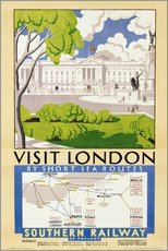 'Visit London', poster advertising Southern Railway, 1929