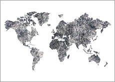 World Map - Dried