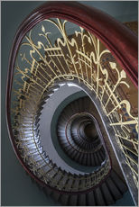 Spiral stairs with ornamented handrail