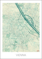 Vienna Map Blue